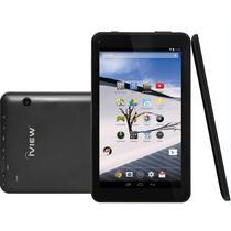 """Tablet Iview 730TPC 16GB / Memoria 1GB / Cameras de 2MP e 0.3MP / Tela 7"""" - Preto"""