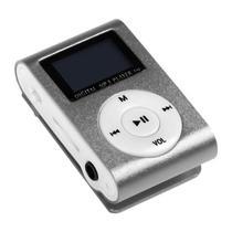 Reprodutor MP3 X-Tech XT-MP801 com Display LCD e Slot para Micro SD - Prata