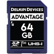 Cartao de Memoria Delkin Devices Advantage 64GB - V30 - SDXC Uhs-I - 100MBS