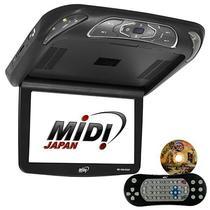"Tela de Teto Automotivo Midi MD-1208ROOF de 12"" com USB/SD - Preto"