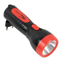 Lanterna Ecopower EP-8310 - Recarregavel - Bivolt - Preto e Vermelho