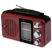 Radio AM/FM BAK BK-811BT com Bluetooth/USB/8 Bandas Selecionaveis 220V - Vermelho