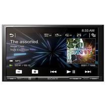 """Reprodutor de Radio Automotivo Sony XAV-V750BT 2 Din de 7.0"""" 4X55W Bluetooth/USB - Preto"""