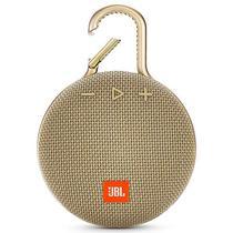 Caixa de Som JBL Clip 3com Bluetooth/Auxiliar Bateria 1.000 Mah - Dourado