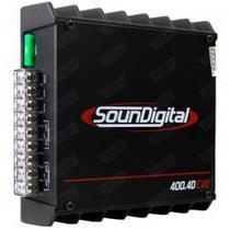 Módulo Soundigital SD400.4 Black 4CH 400RMS