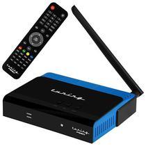Receptor Fta Tuning P'930 Full HD com Wi-Fi/2 LNB/HDMI Bivolt - Preto/Azul