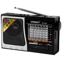 Radio Portatil AM/FM/SW 1-6 Satellite AR-304BT 2 Watts RMS com Bluetooth/USB - Preto