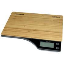 Balanca Digital para Cozinha Roadstar Bamboo para Ate 5 KG - Marrom/Preta