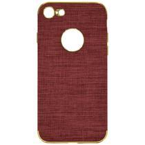 Capinha para iPhone 7/8 Wesdar - Vermelha Clara/Dourada