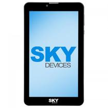 "Tablet SKY Devices Platinum View Dual Sim de 8GB Tela 7"" 5MP/2MP - Cinza"