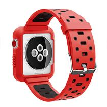 Pulseira 4LIFE de Silicone para Apple Watch 42MM - Vermelho e Preto
