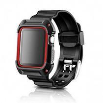Pulseira + Case 4 Life para Apple Watch 38MM - Preto/Vermelho