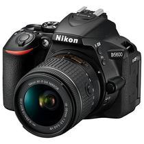 Camera Nikon D5600 24.2MP Bluetooth/Wi Fi/NFC + Lente Af-P DX Nikkor 18-55MM VR - Preta