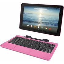 Tablet Polaroid Q-1010MGT 2 Em 1 10.1 Intel Quad Core 16GB Dual Cam Wi-Fi/Bluetooth+Keyboard-Rosa