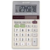 Calculadora Sharp Elsi Mate EL-244TB 8DIGITOS - Branco/Prata