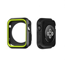 Case 4LIFE para Apple Watch Dual Color Tpu - 38MM - Preto / Verde