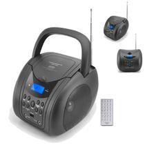 Radio Portatil Powerpack Boom Box CDBT-828 BT/ FM/ MP3/ USB/ 500W/ Bivolt Preto