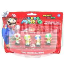 Boneco Super Mario Pack com 4 Toad