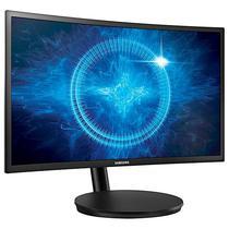 """Monitor Curvo Qled de 24"""" Samsung C24FG70FQL Full HD HDMI/Displayport Bivolt - Preto"""
