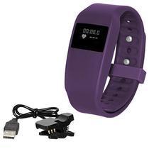 1ada2e2a9d7 Pulseira Fitness SKY Healthband com Sensor Cardiaco   Bluetooth - Roxo