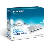 Hub Switch TP-Link TL-SF1008D 10/100 com 8 Puertos