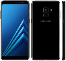 "Smartphone Samsung Galaxy A8+ SM-A730F 32GB/4GB Lte Dual Sim 6.0"" Cam.16MP/8MP+16MP-Preto"