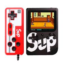 Console Mini Game Retro Portatil Sup Boy Game Box 400 In 1 Preto c/ Controle
