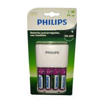 Carregador de Pilhas Philips SCB2445NB/97 Bivolt - Branco