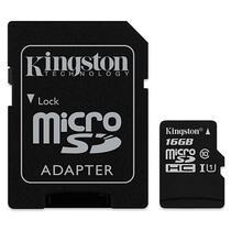 Cartao de Memoria Micro SD Kingston SDCS de 16GB MSDHC-I - Preto