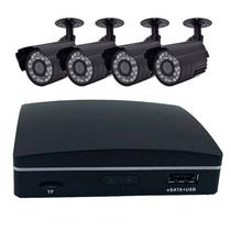 DVR Mini Ahd 1080P 4 Canais + 4 Cameras