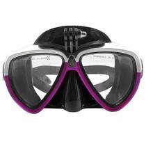 Oculos de Mergulho para Cameras de Acao Telesin DIV-GS2 - Preto/Roxo