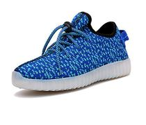 Tenis LED Tecido Azul #40