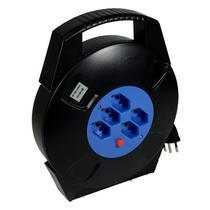 Filtro de Linha Mox SL10 com 5 Tomadas Tipo N (Bivolt) de 10M - Preto/Azul