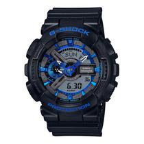 Relogio Casio Masculino Preto Azul GA110CB-1A