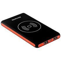 Carregador Portatil Aiwa AW-PBF168W de 10.000 Mah com Funcao Wireless - Preto/Vermelho