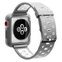 Pulseira 4LIFE de Silicone para Apple Watch 42MM - Cinza e Branco