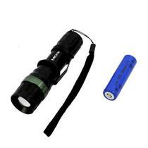Lanterna LED Mox MO-L8083 de 3W com Bateria Recarregavel - Preto