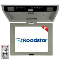"Tela Automotiva de Teto 12.1"" Roadstar RS-201RM com USB/Slot SD - Cinza"