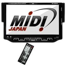 """Reprodutor de DVD Automotivo Midi MD-7025DVBT de 7.0"""" com Bluetooth/Auxiliar - Preto"""