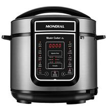 Panela de Pressao Eletrica Mondial Master Cooker PE-38 de 5 Litros 127V - Cinza/Preta