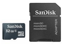Memoria Micro SD-HC Sandisk 32GB 2X1 Class 4