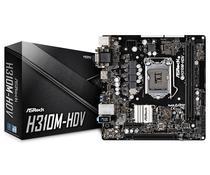 Placa Mãe Asrock LGA1151 H310M-HDV DVI/HDMI/VGA