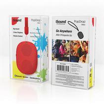 Caixa de Som Isound Popdrop Bluetooth 6347 Vermelho