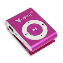 Reprodutor MP3 X-Tech XT-MP501 com Leitor de Cartao Micro SD - Rosa