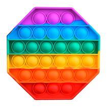 Brinquedo Pop It Fidget PS-21 Anti Estresse - Silicone - Octogono Colorido