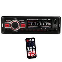 Toca Radio Automotivo BAK BK-296BT com Bluetooth USB/SD/FM - Vermelho