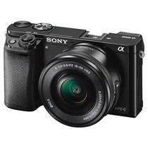 Camera Sony Mirrorless ILCE-6000L 24,3MP com Wifi/NFC/Visor Oled + Lente 16-50MM - Preto