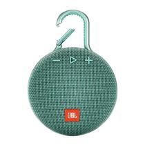 Caixa de Som Portatil JBL Clip 3 - Verde Azulado