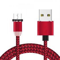Cabo Microusb-USB 4LIFE Nylon - Vermelho/Preto $