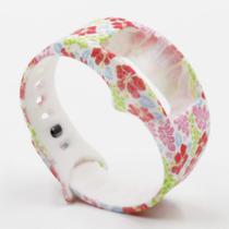 Pulseira 4LIFE de Silicone para Samsung Galaxy Gear Fit 2 - Pequeno - Design 10